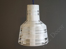 Lampa z metalu SECTION biała 37cm [AZ02302]