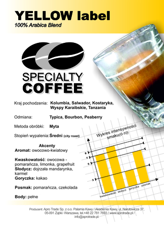 YELLOW Label 100% Arabica 250 g