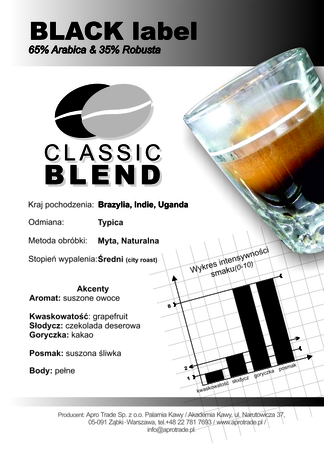BLACK Label 65% Arabica + 35% Robusta 500 g